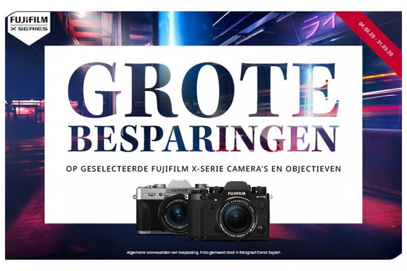 'Grote Besparingen' bij Fujifilm!