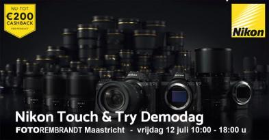 Nikon Touch and Try Cashback Demodag